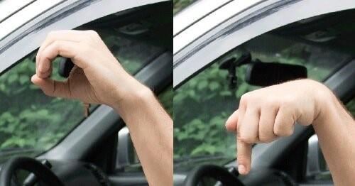 Круг пальцами или указательный палец