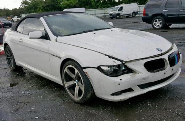 BMW 650 после аварии