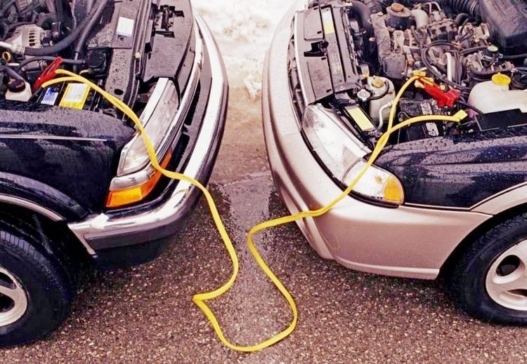 Прикуривание от автомобиля