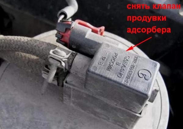 Клапан продувки адсорбера