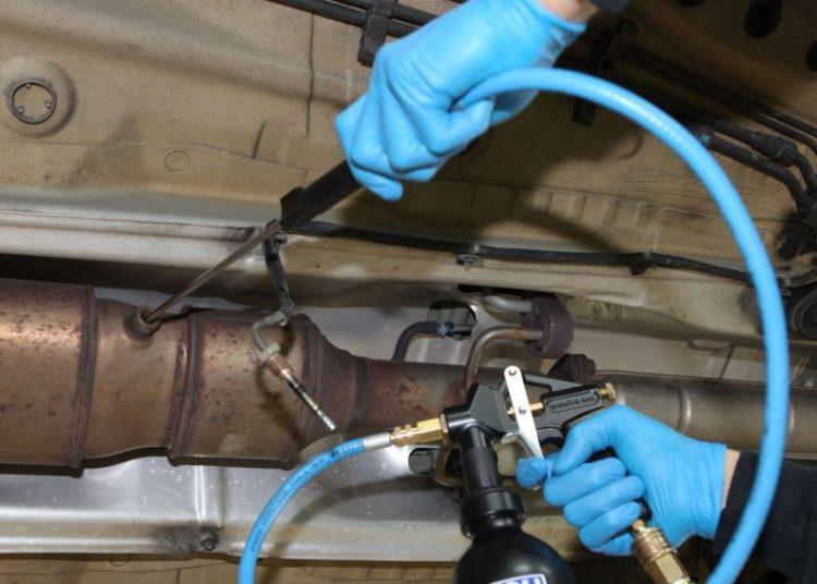 Очистка катализатора сжатым воздухом