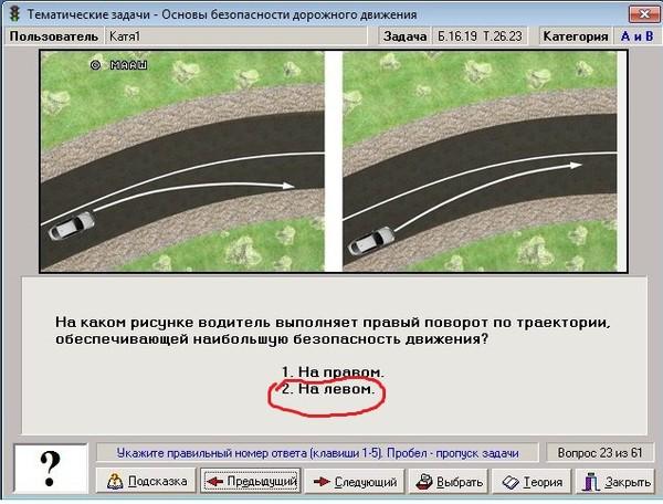 Правильная траектория поворота авто