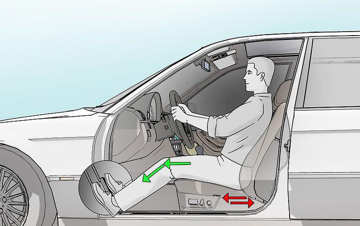 Положение сидения водителя