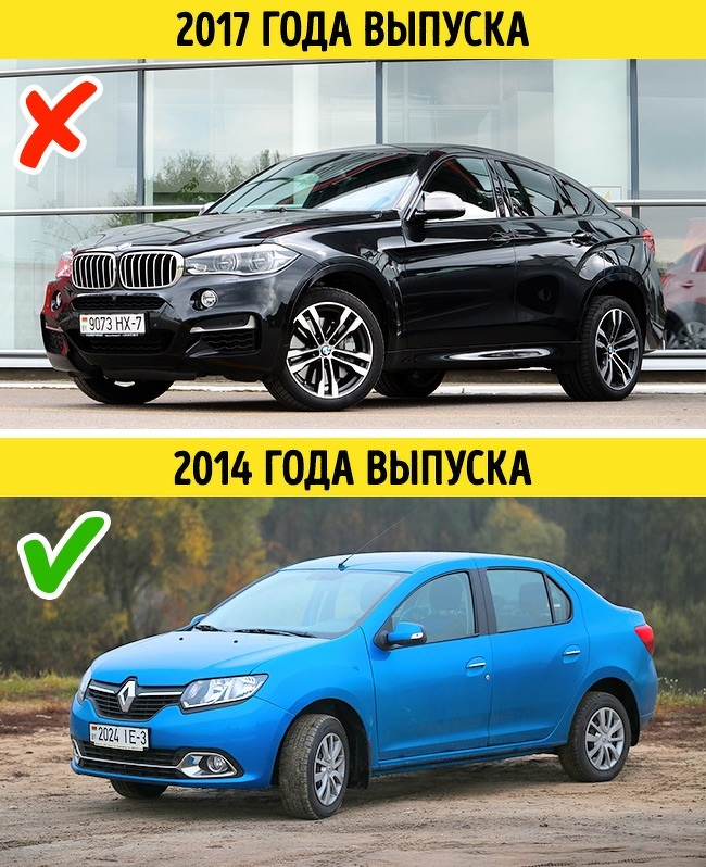 Автомобили 2017 и 2014 года выпуска