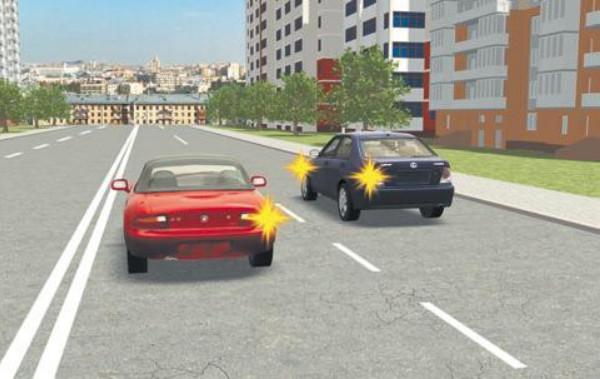 Авто по левой и правой полосе