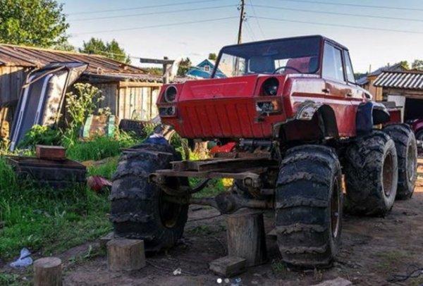 Жигули на колесах от трактора