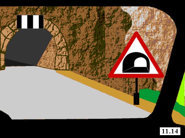 Знак тоннеля