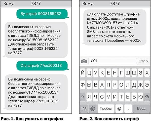 СМС для оплаты штрафа