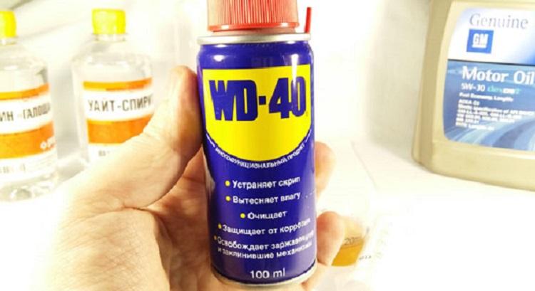 Аэрозоль WD-40, уаит-спирит, масло