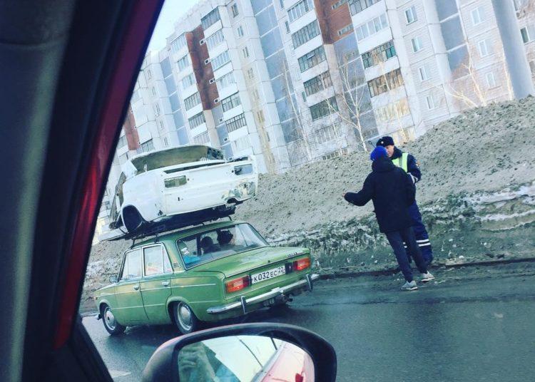 Кузов на крыше Жигули
