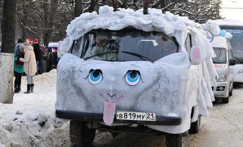 Микроавтобус в виде овечки