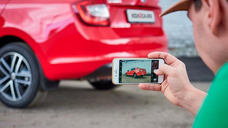 Фото машины на смартфон