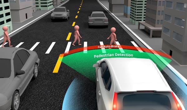Дистанция перед пешеходным переходом
