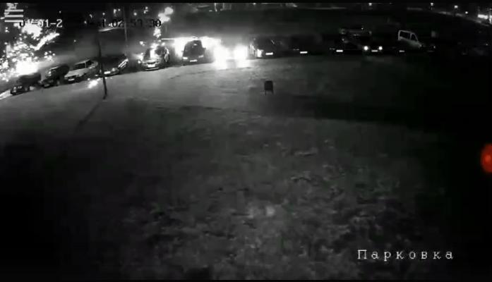 Фейерверки на парковке