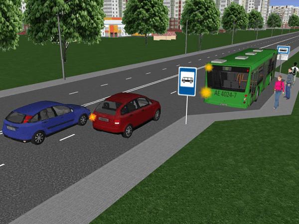 Пропуск автобуса перед остановкой