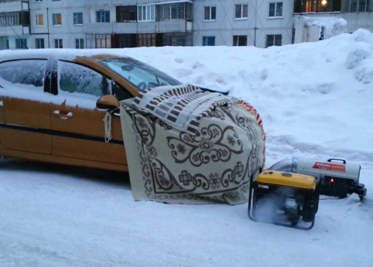 Машина в одеяле