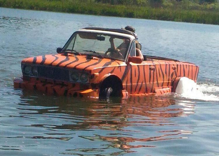 Плавающие тигровые Жигули