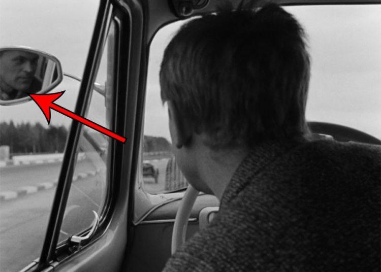 Деточкин за рулем и в зеркале оператор