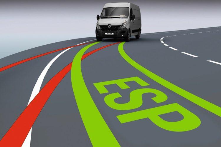 Микроавтобус и ESP на дороге