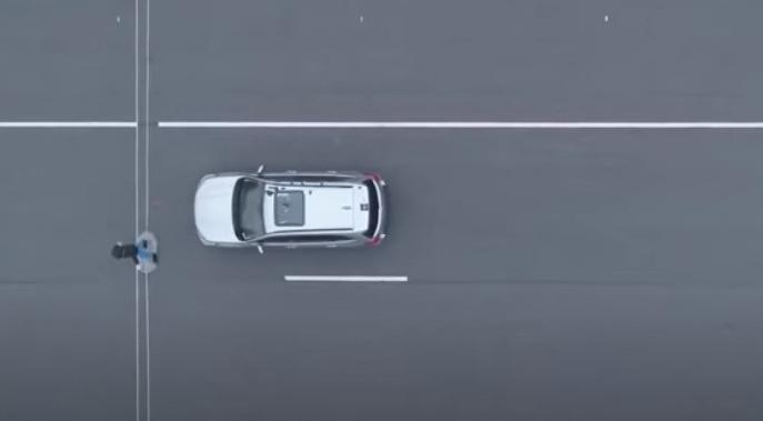 Авто возле пешехода