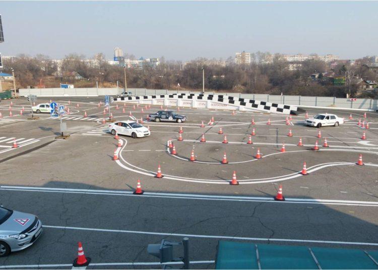 Площадка школы вождения