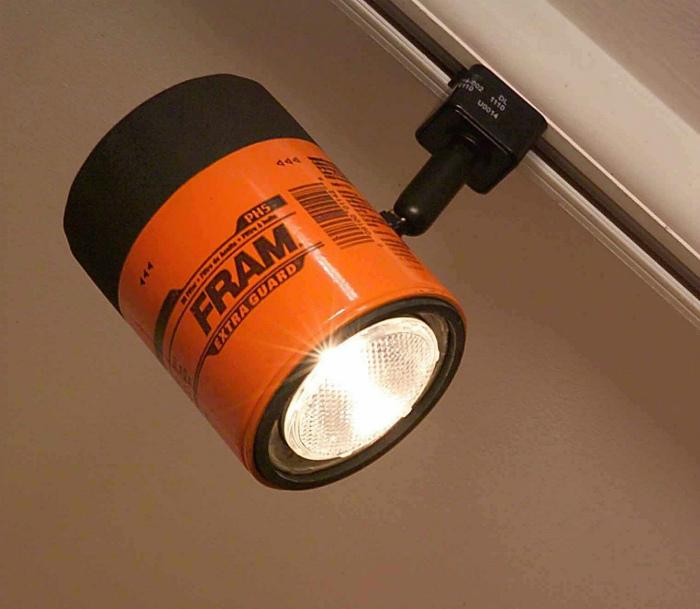 Лампа из масляного фильтра