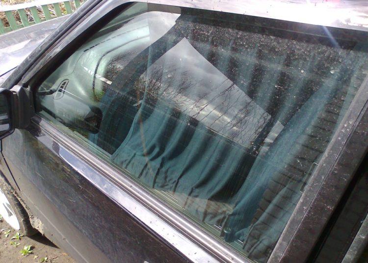 Шторка на двери авто