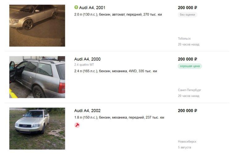 Продажа Audi А4 на дром