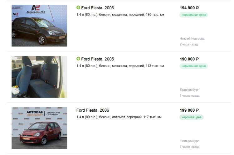 Объявления о продаже Ford Fiesta V