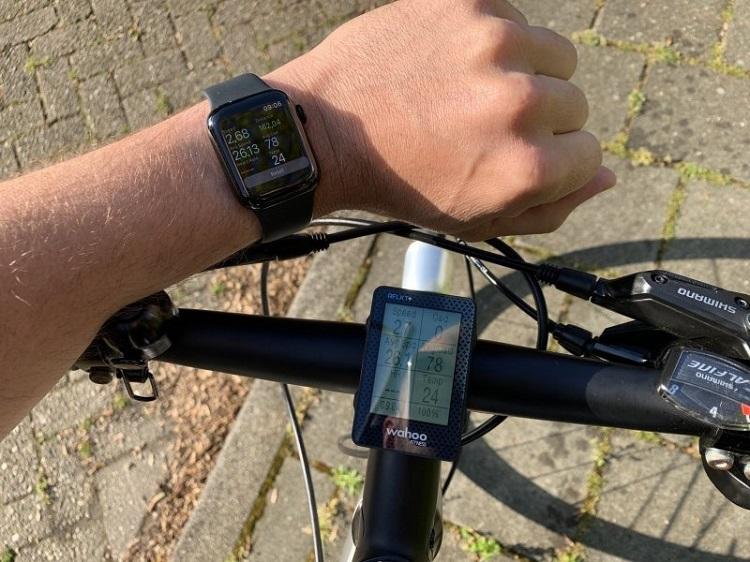Приложение для велосипеда на часах и телефоне