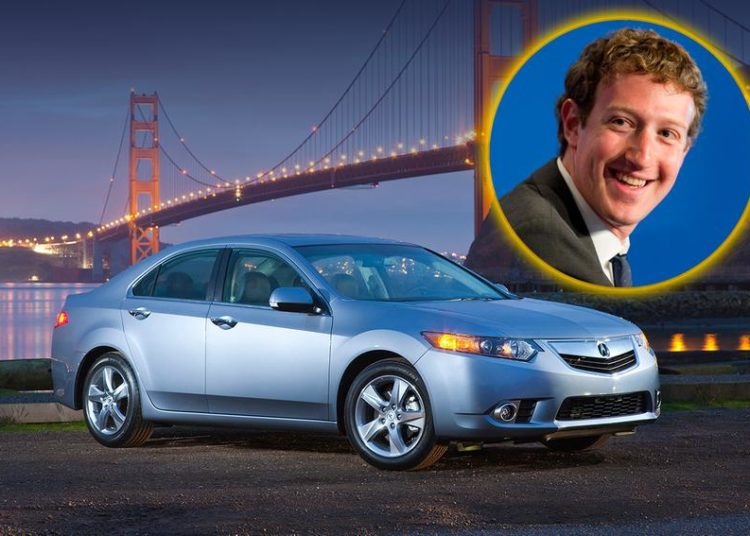 Марк Цукерберг и Acura TSX