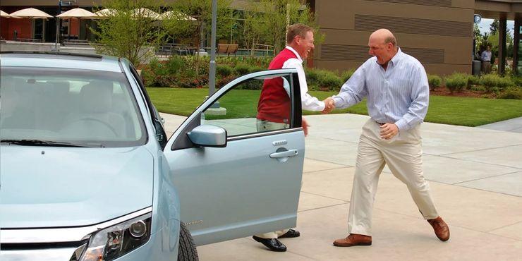 Симв Балмер и Ford Fusion Hybrid