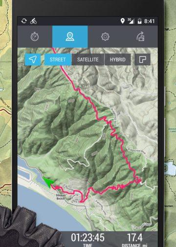 Интерфейс приложения VeloPal GPS