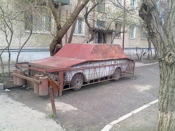 Металлический тент для авто