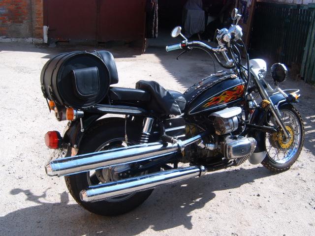Мотоцикл с баком для газа