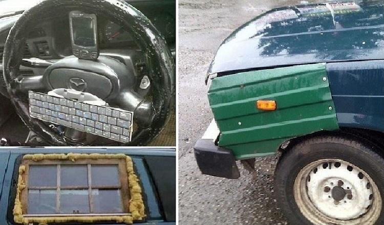 Смешной ремонт машин