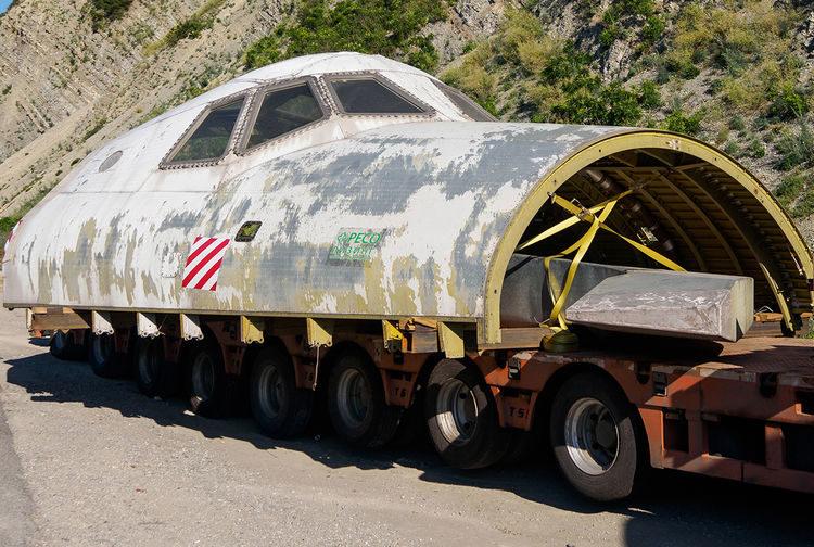 Макет космического корабля Буран на трассе