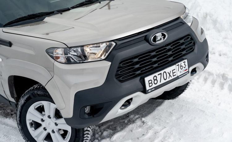 Lada Niva Travel на снегу