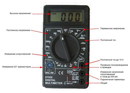 Мультиметр с описанием