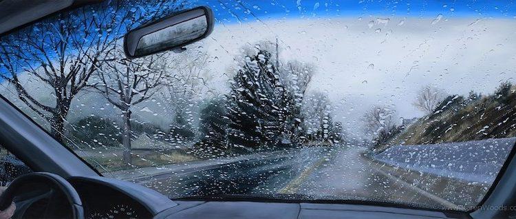 Ветровое стекло и дождь