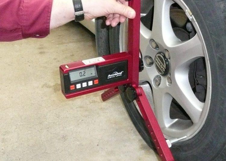 Проверка уровня колеса