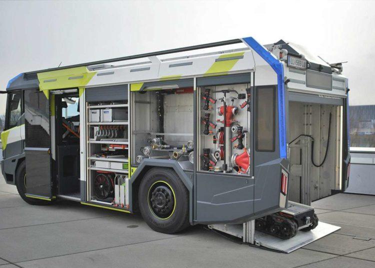 Электромобиль Пожарная машина Rosenbauer