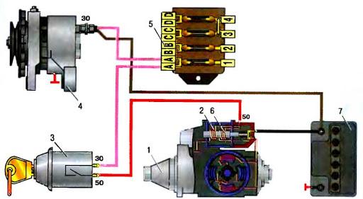 Схема работы АКБ