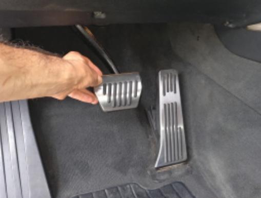Алюминиевые накладки на педали авто