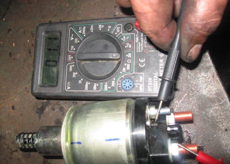 Проверка стартера вольтметром
