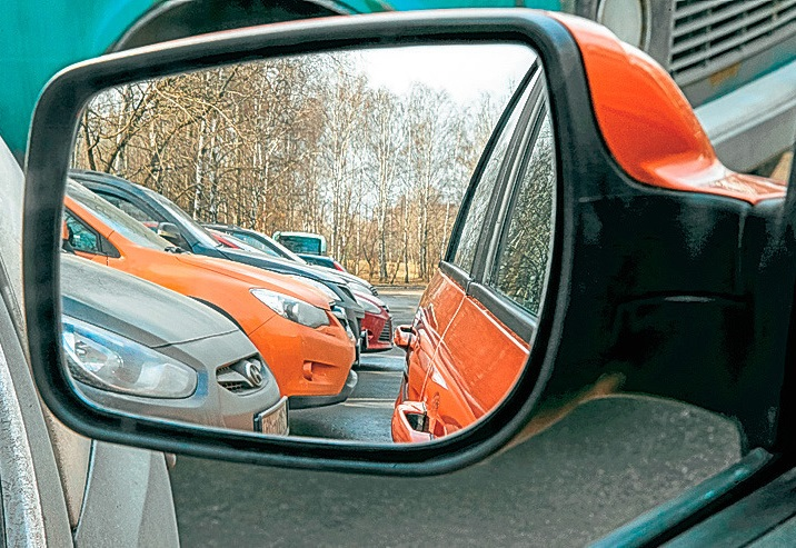 Парковка задним ходом по зеркалу