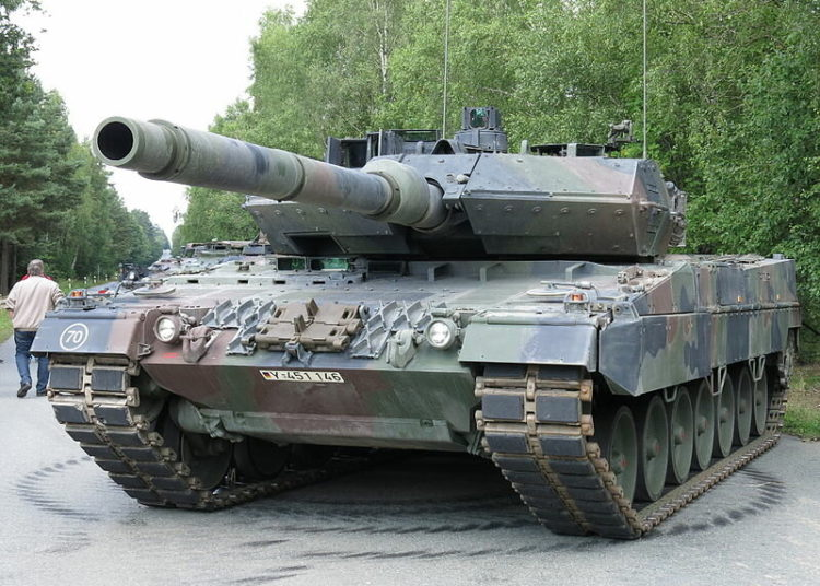 Leopard 2A7+ на площади