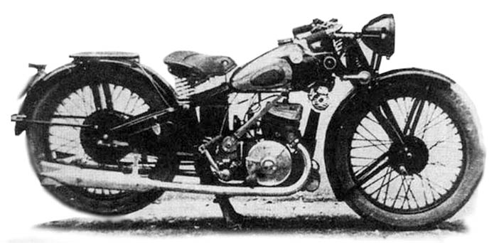 Черно-белое фото мотоцикла ИЖ