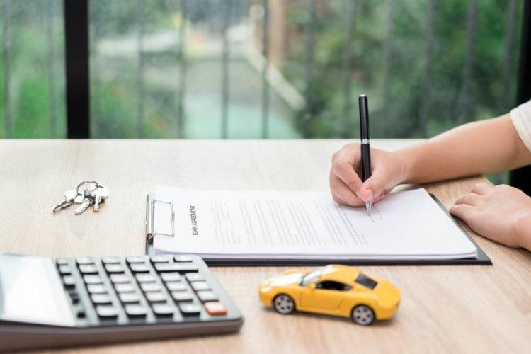 Заполнение документа, калькулятор и автомобиль