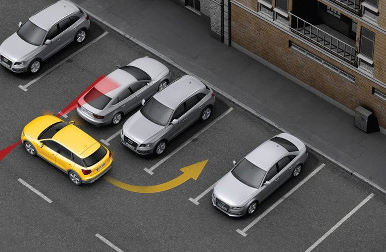 Траектория перпендикулярной парковки